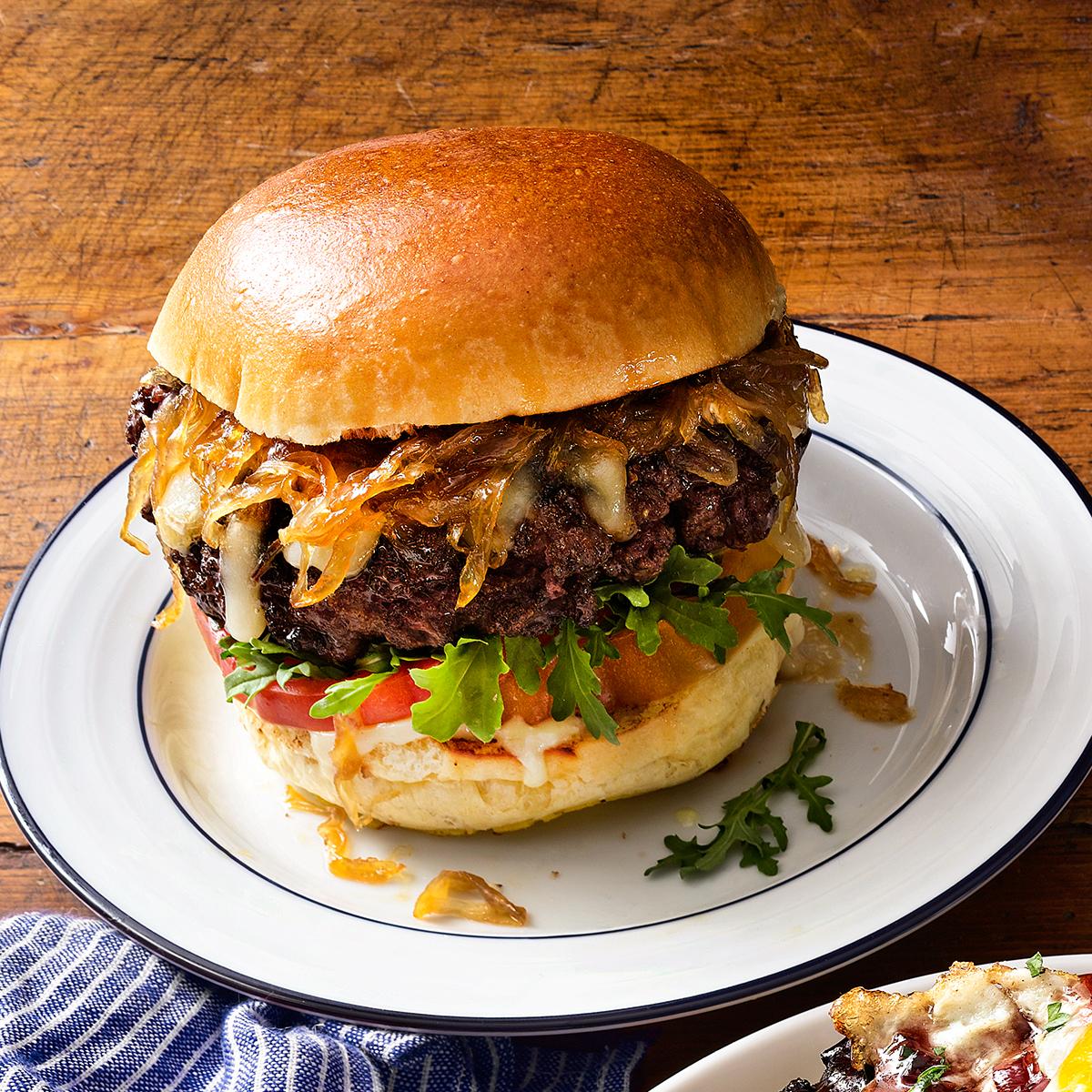 primetime burger on plate