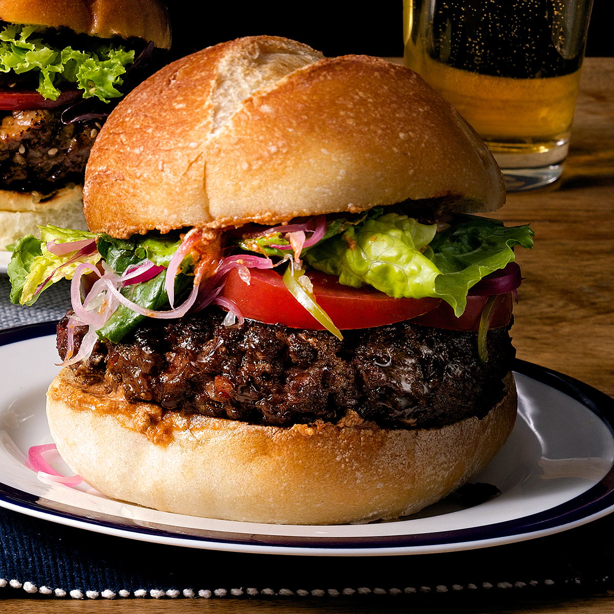 sur burger on plate