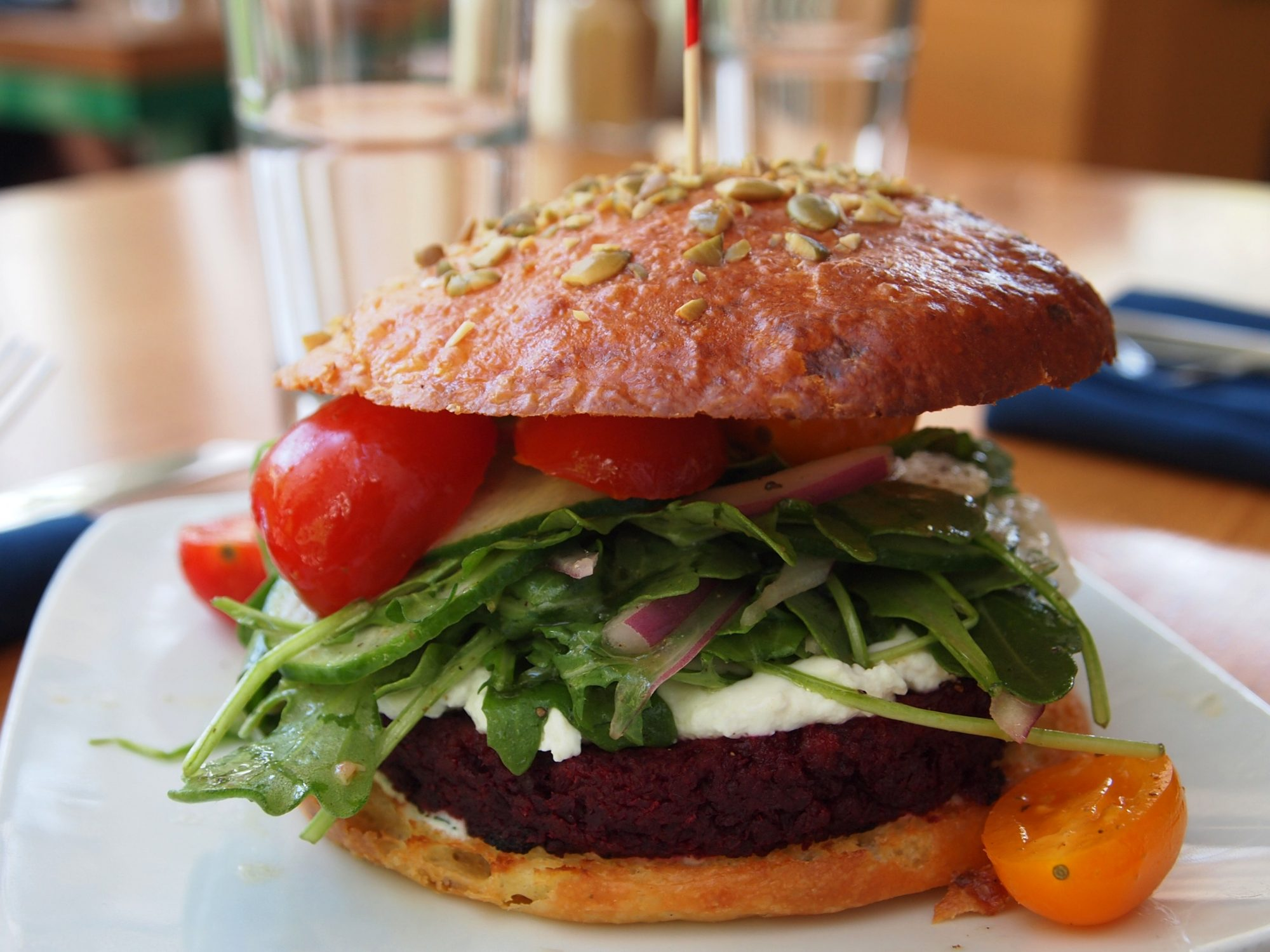 Graze Beet and Walnut Burger