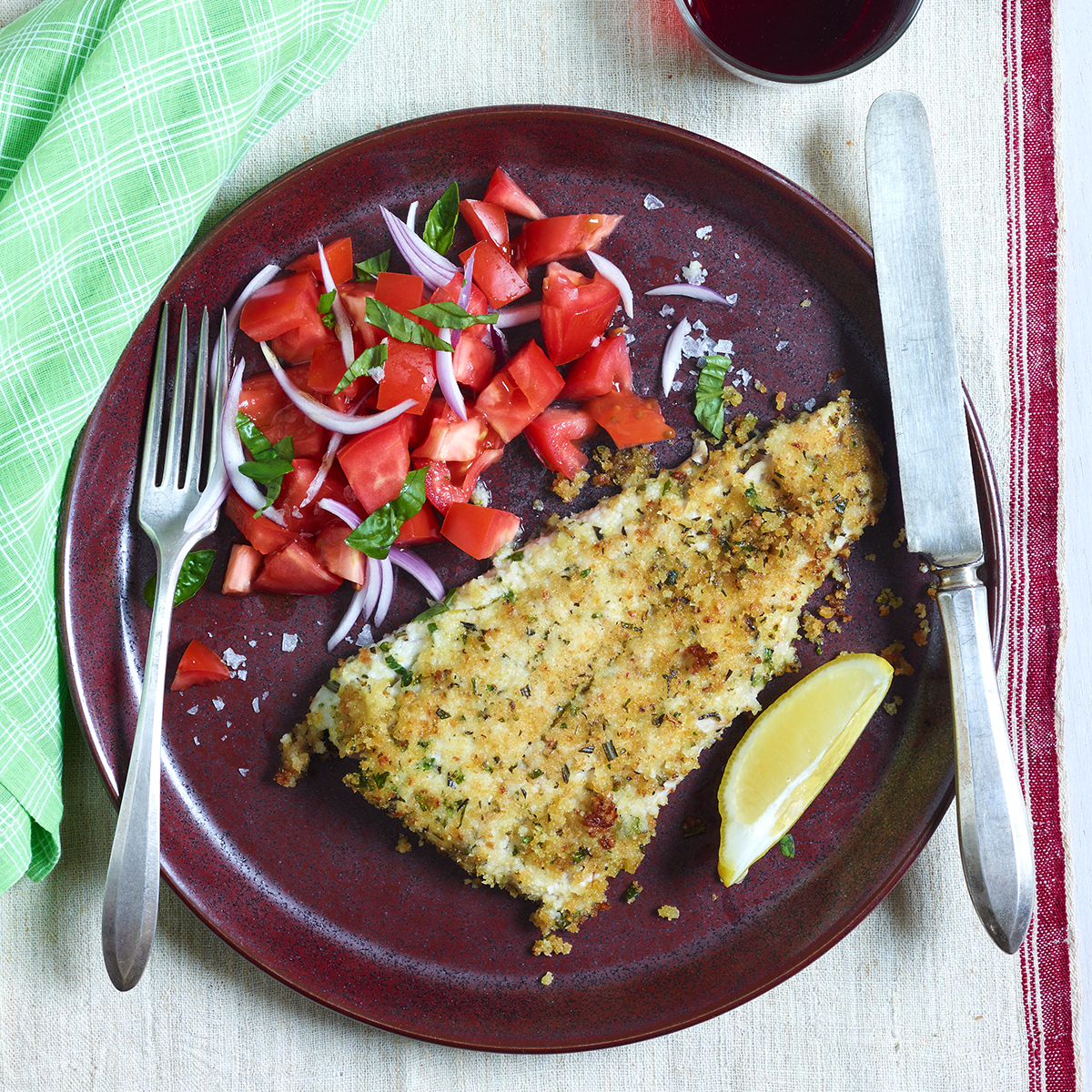 fish with mixed herb gremolata breadcrumbs