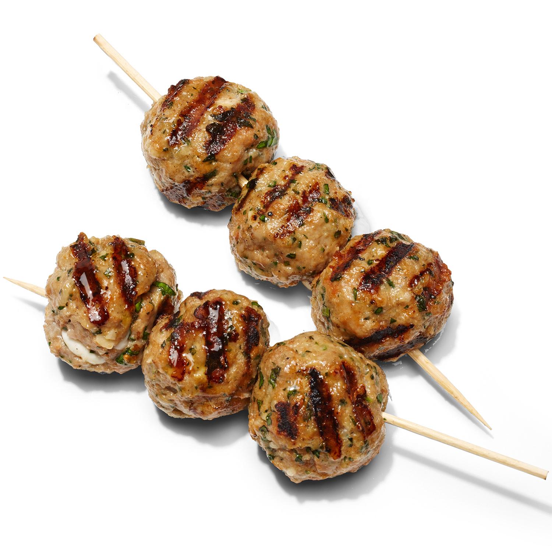 Chicken or Turkey Parm Meatballs with Caesar Slaw
