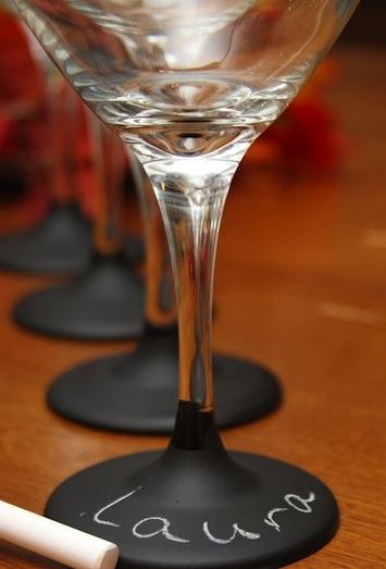 chalkboard paint wine glasses
