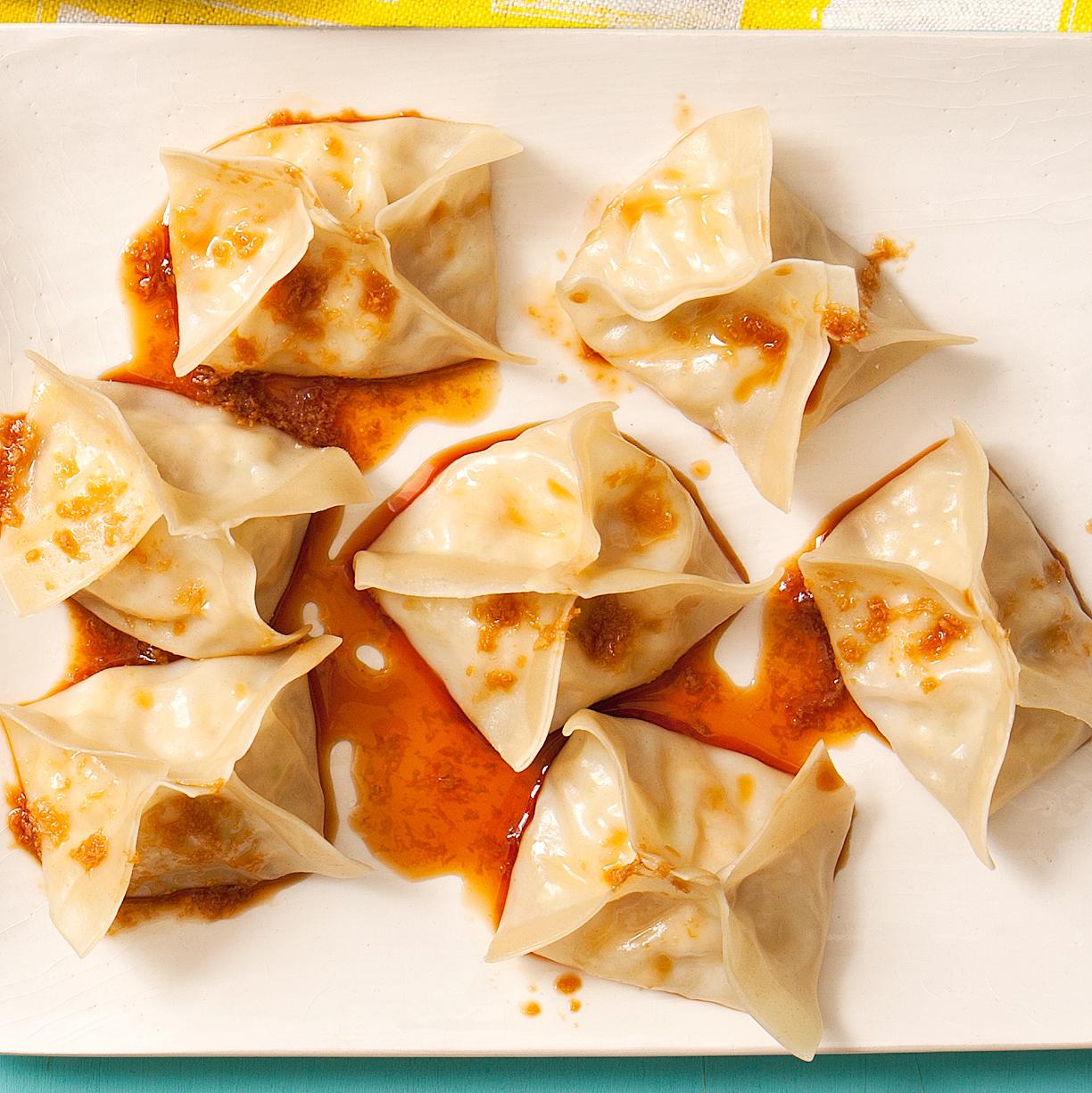 Asian Chicken Dumplings