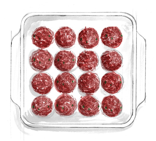Meatball Technique - Illustration by Alice Tait