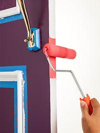 paint edge of door