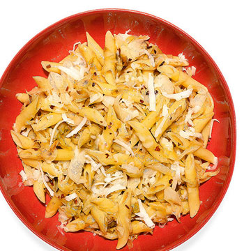 Penne with Cabbage and Provolone Piccante