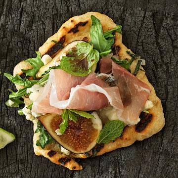 Gorgonzola Pizzas with Fig & Prosciutto