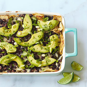 Baked Green Chile Chilaquiles