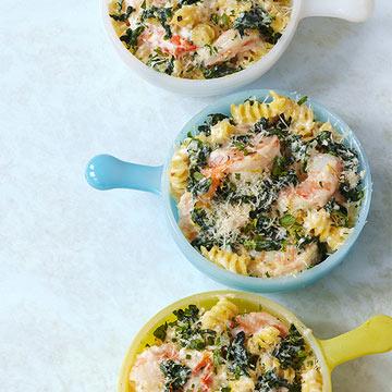 Shrimp & Pasta Mini-Bakes