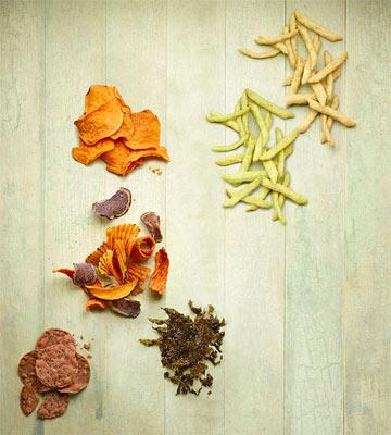 Veggie chips taste test