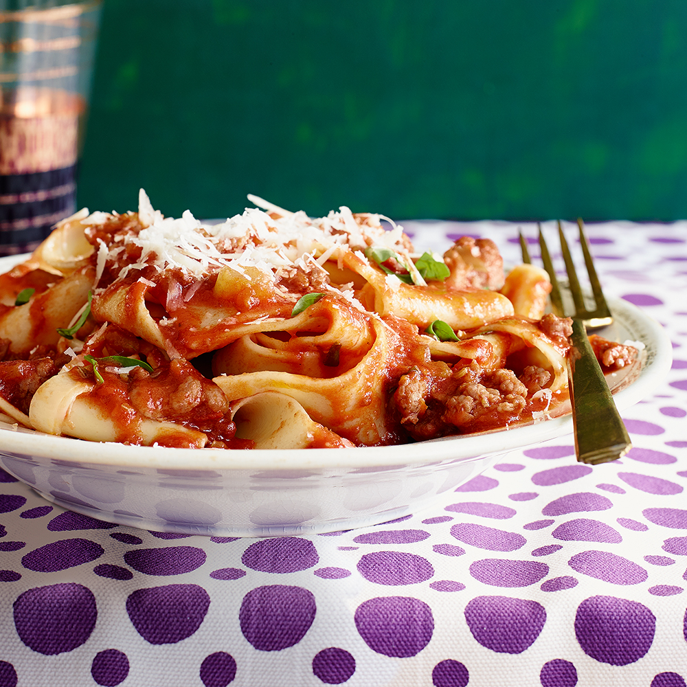 Sausage Ragu with Pappardelle