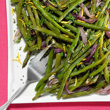 Onion & Gremolata Green Beans