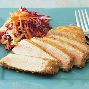 Rice CrackerCrusted Tuna with Apple Slaw