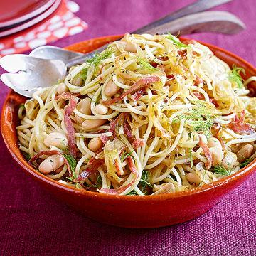 Spaghetti with Salami & Fennel