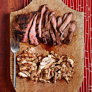 Umami-Grilled Chicken Thighs or Flank Steak