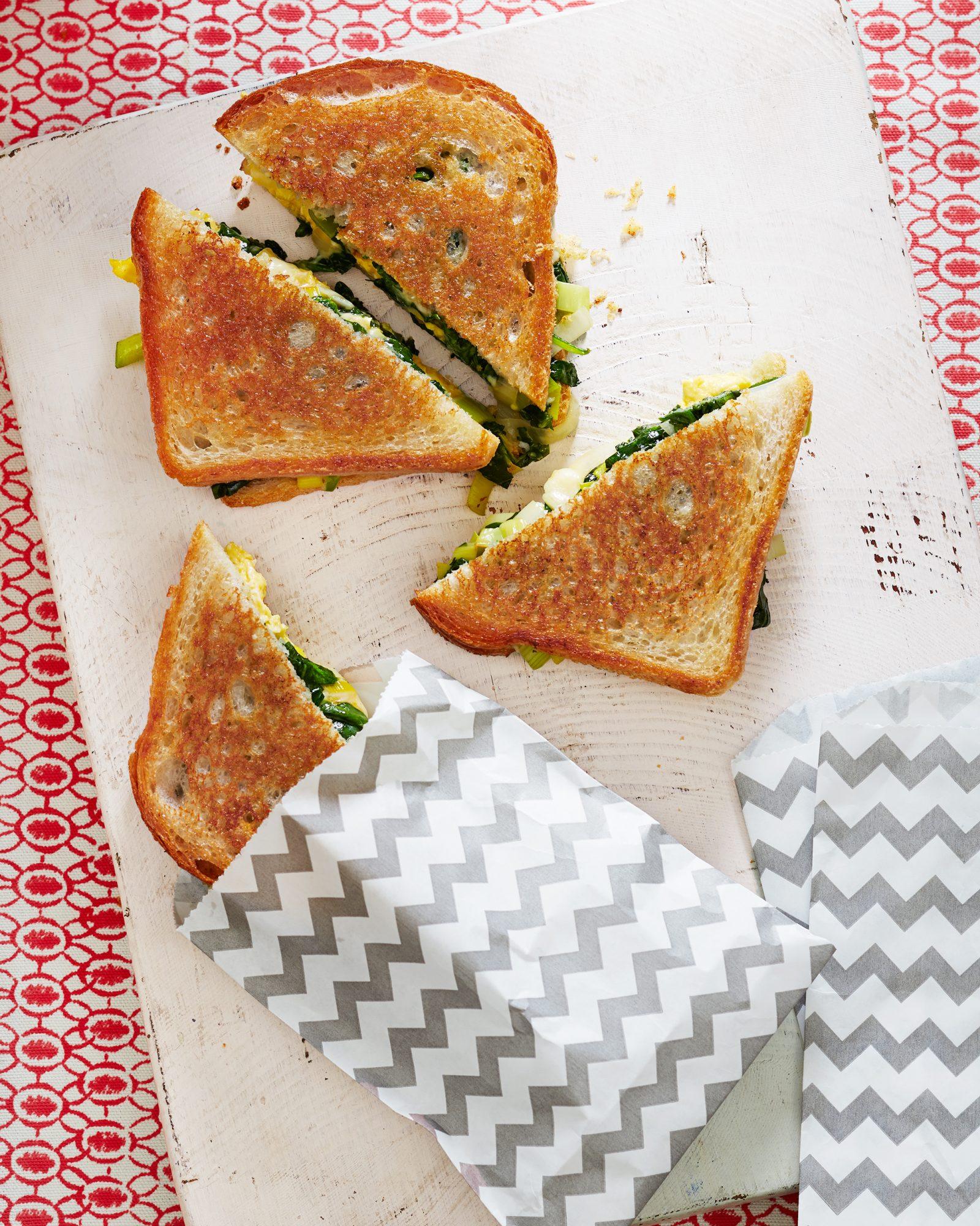 Spinach, Leek & Gruyere Toasties