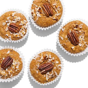 Sweet Potato, Coconut & Pecan Muffins