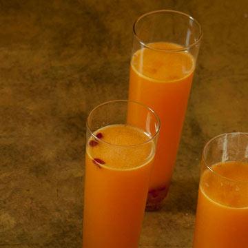 Tangerine-Pomegranate Sparklers