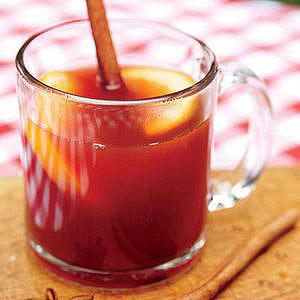 Warm Spiced Pomegranate Orange Juice
