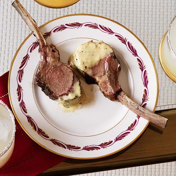 Baby Lamb Chops with Rosemary-Mustard Sauce