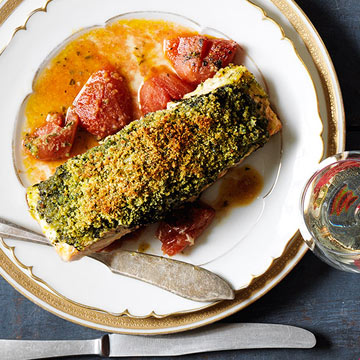 Herb-Crusted Roast Salmon