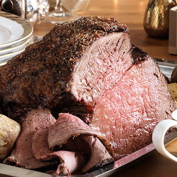 Roast Beef with Smashed Garlic Gravy
