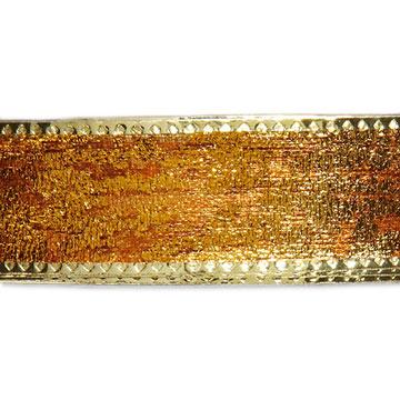 Gold Crackle Ribbon