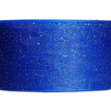 Organdy Glitter Blue Ribbon
