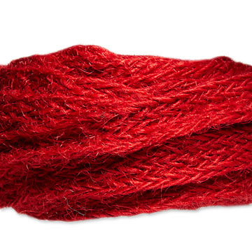 Red Burlap Woven