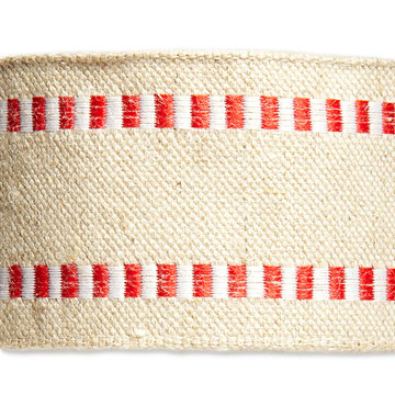 Red & White Wired Linen