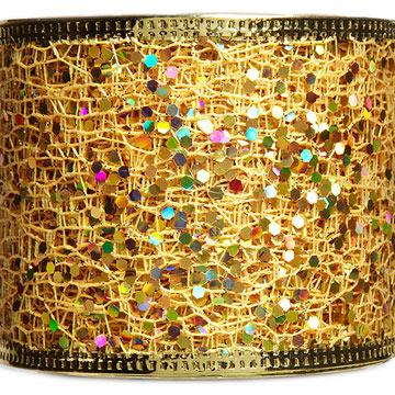 Wired Confetti Mesh Gold Ribbon