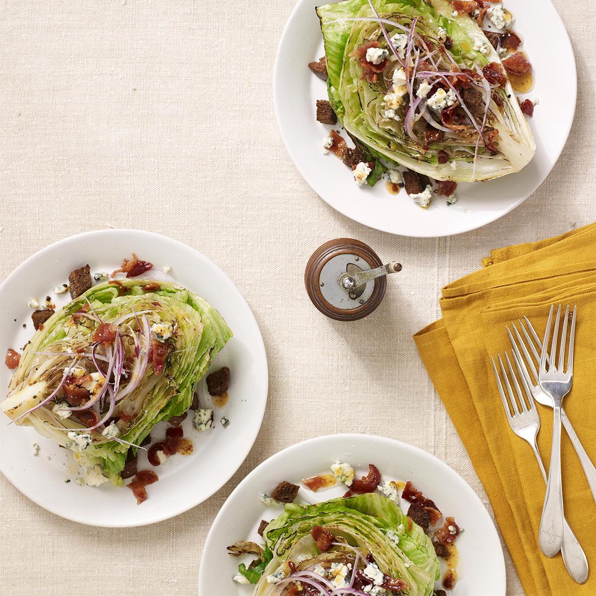 warm wedge salad