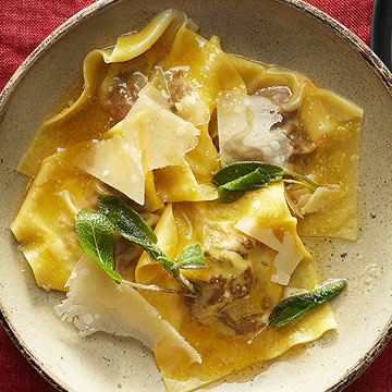 Beef Ravioli with Sage Butter