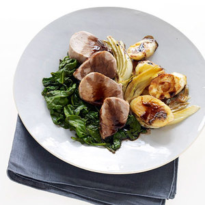 Balsamic Pork with Fennel, Arugula and Parsnips