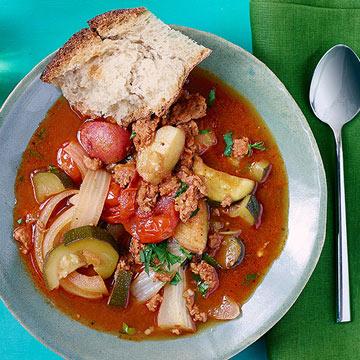 Sausage, Zucchini & Potato Stoup