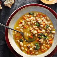Sausage, Bean & Spinach Stew