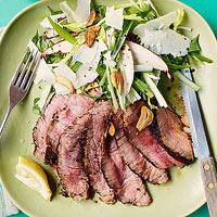 Tagliata with Celery & Mushroom Salad