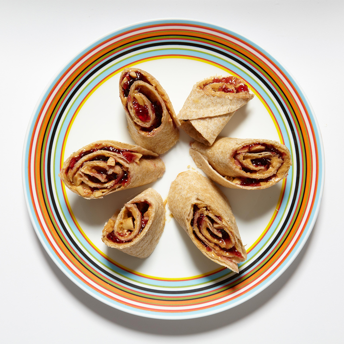 peanut butter and jelly wrap