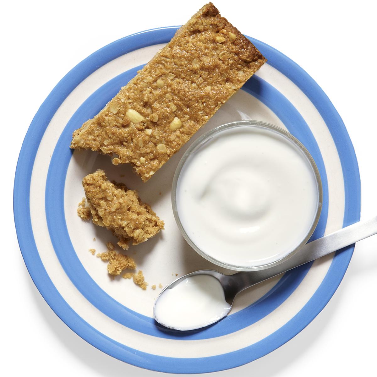 Sweet & Salty Granola Energy Bars with Yogurt