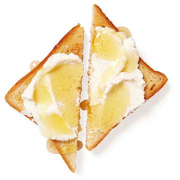 Ricotta and Honey Toast