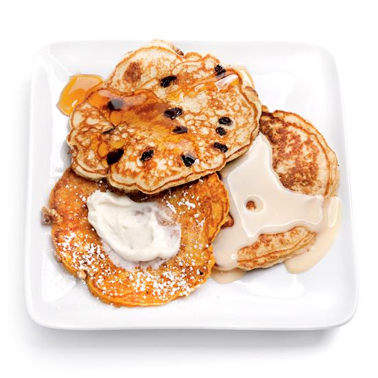 oatmeal-raisin pancakes