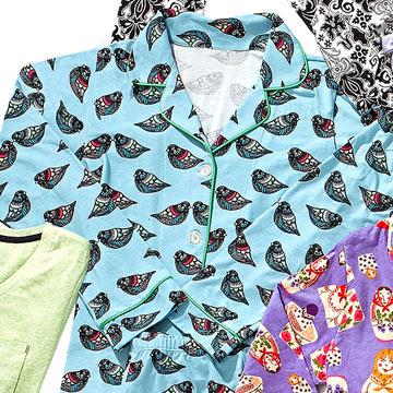 Topaz Jewel Bird Flannel Classic PJ
