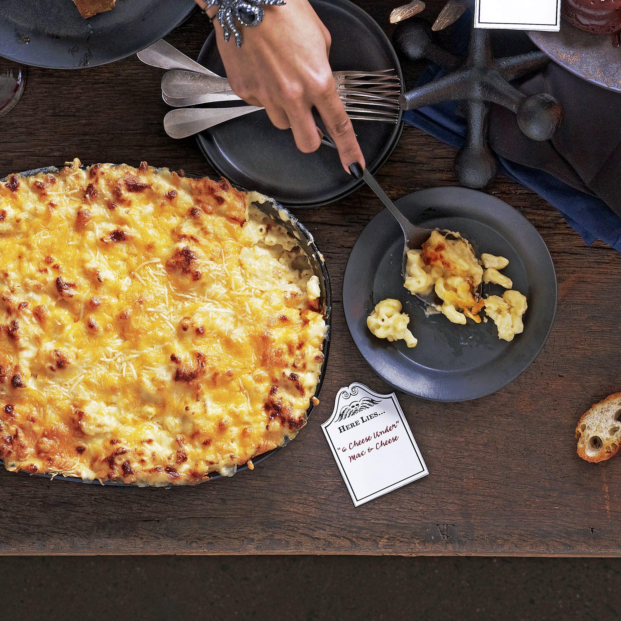 6 cheese under mac & cheese