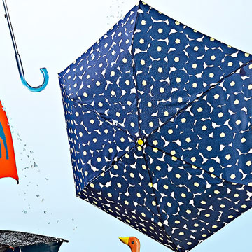 Navy Floral Umbrella