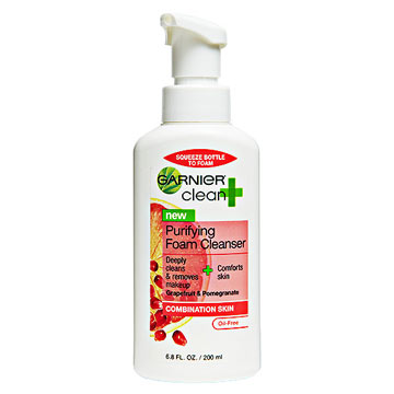 Garnier Clean + Purifying Foam Cleanser for Combination Skin