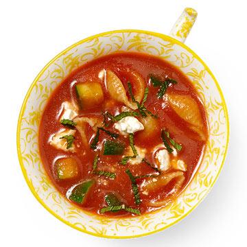 Tomato with Zucchini, Feta & Mint