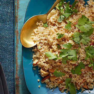 Bulgur Pilaf with Nuts & Figs