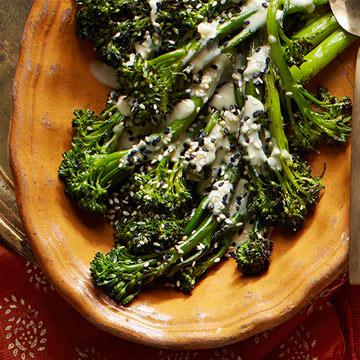 Grilled Broccolini with Tahini