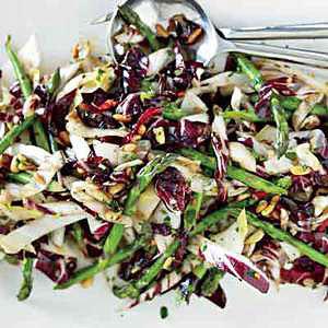 Wilted Radicchio, Endive and Asparagus Salad