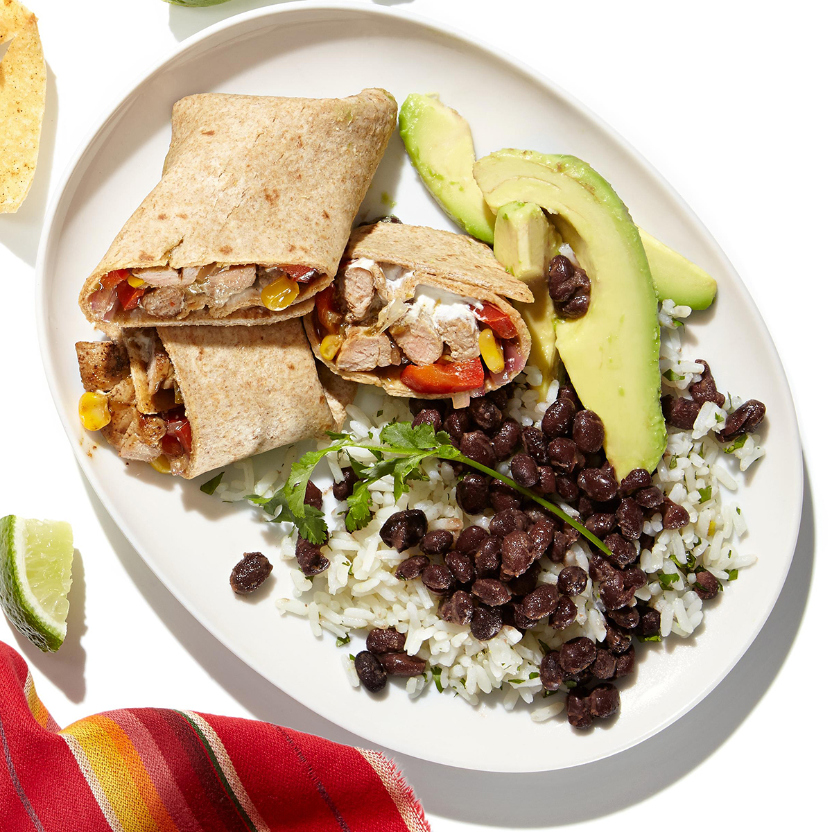 cilantro rice and spiced black beans